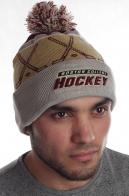 Классическая мужская спортивная шапка с отворотом