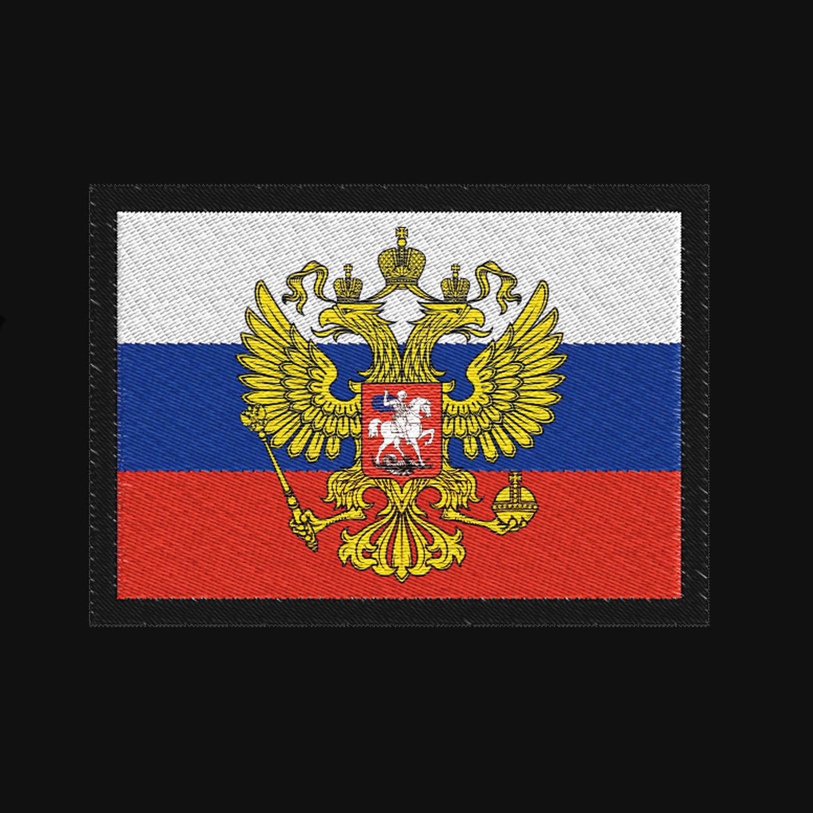 Классическая мужская толстовка с флагом РФ купить выгодно