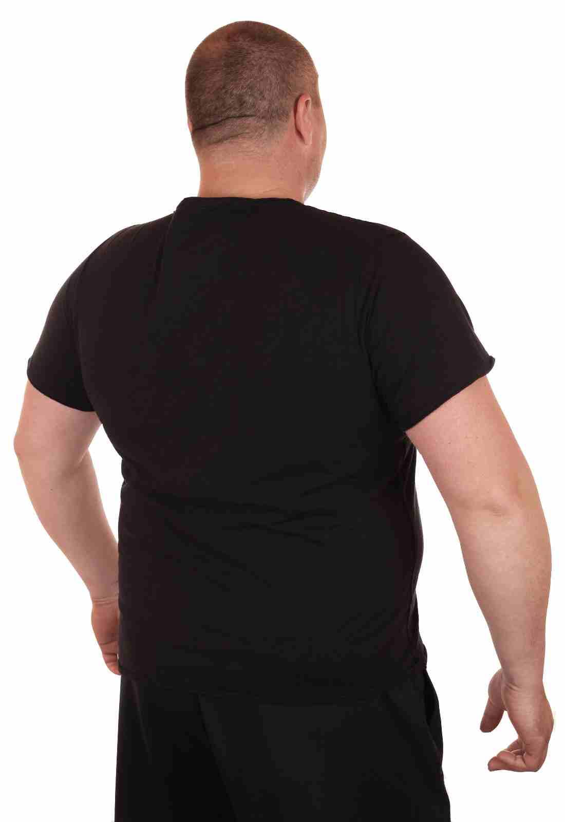 Классическая однотонная футболка от Cremieux (Франция)-вид сзади
