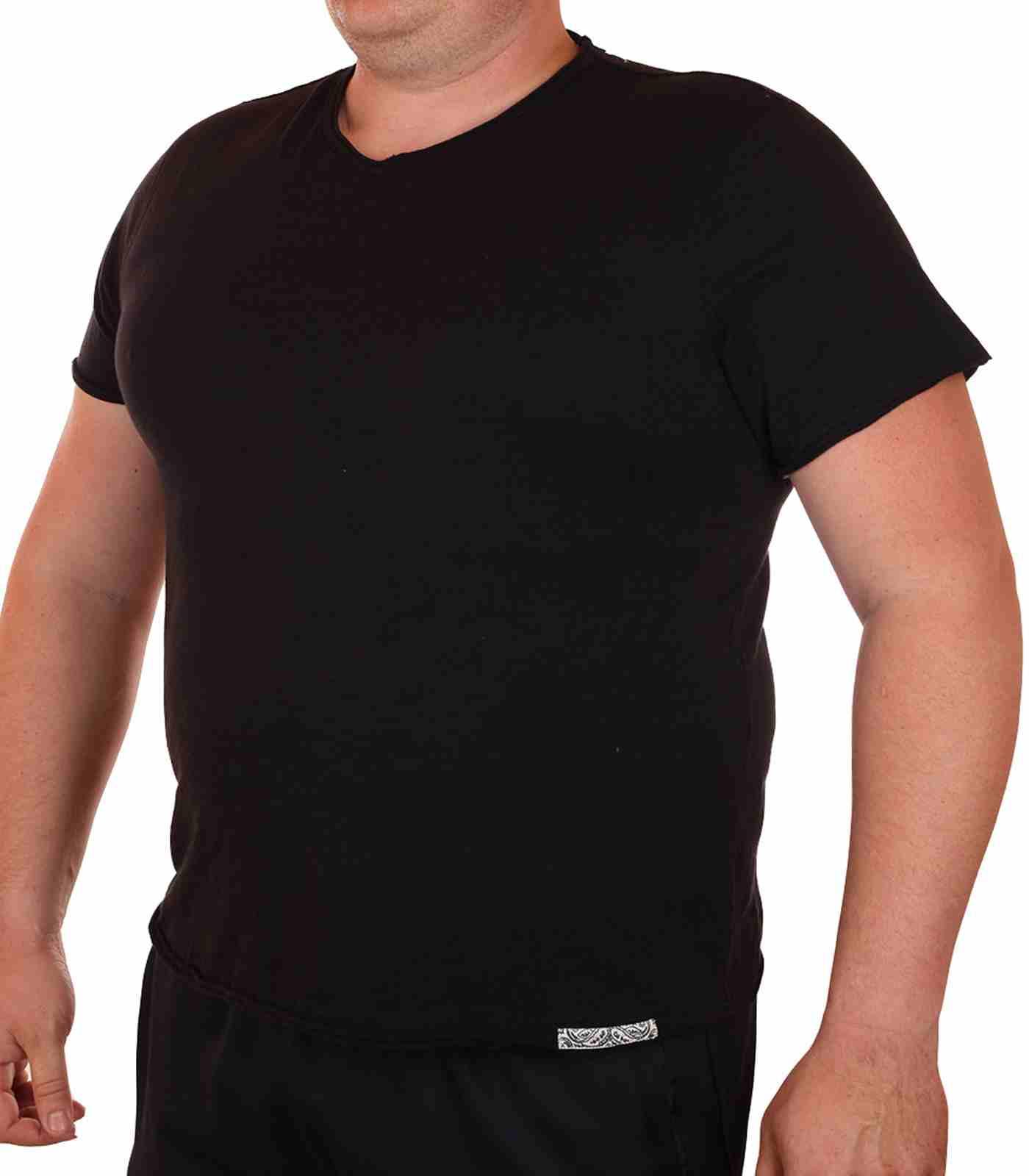 Классическая однотонная футболка от Cremieux (Франция)-главная