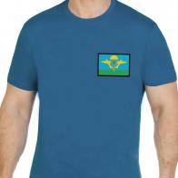 Классическая сине-зеленая футболка с вышивкой ВДВ