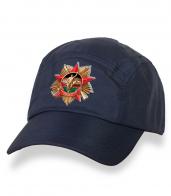 Классическая темно-синяя кепка-пятипанелька с термонаклейкой Афган