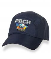 Классическая темно-синяя кепка-пятипанелька с термонаклейкой РВСН