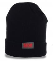 Классическая трикотажная черная мужская шапка Sew Eurodrive отличный ежедневный вариант