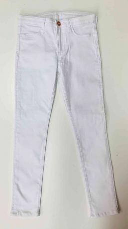 Классические белые джинсы для детей