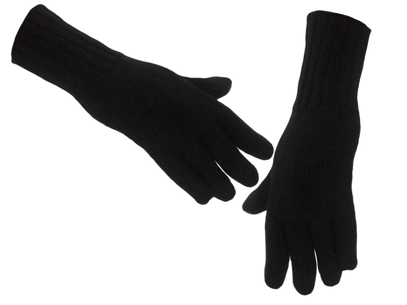 Классические черные вязаные перчатки по лучшей цене