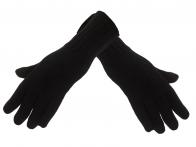 Классические черные вязаные перчатки