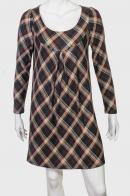 Классическое клетчатое платье от бренда ZB