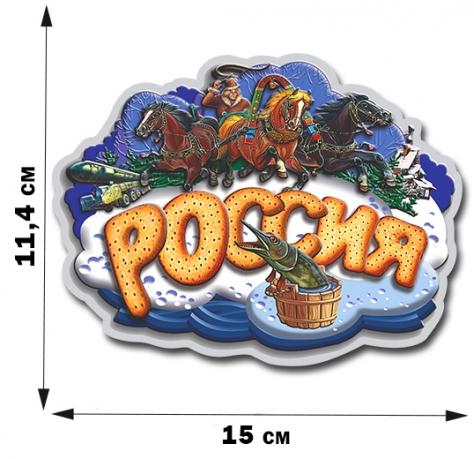 Классная автонаклейка «Россия» с изображением прокачанной версии Емели 2:0.