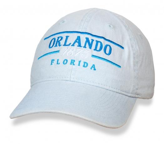 Классная белая бейсболка Orlando, Florida.