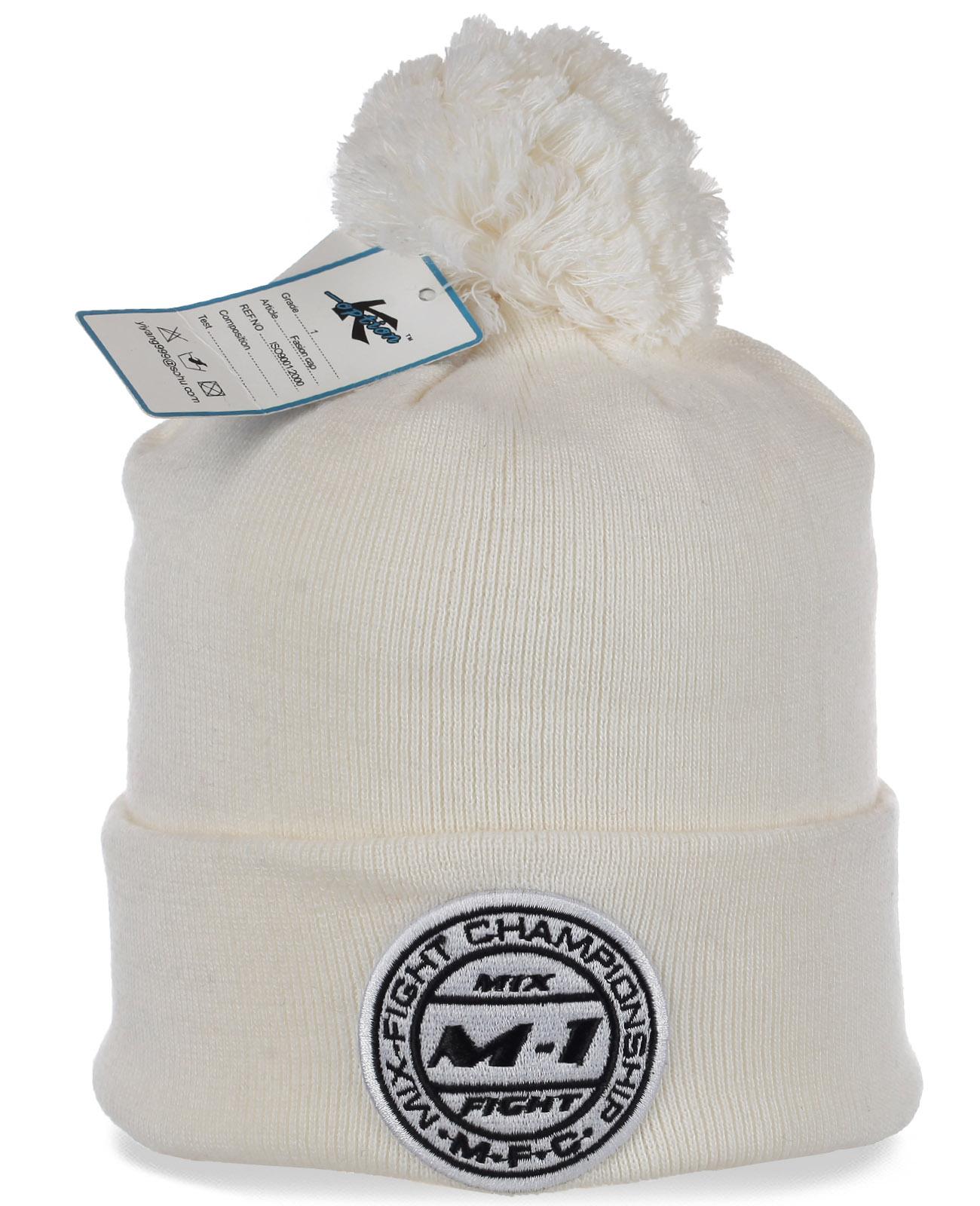 Классная белая шапочка с логотипом Mix Fight Championship