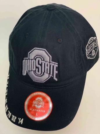 Классная чёрная бейсболка Ohio State