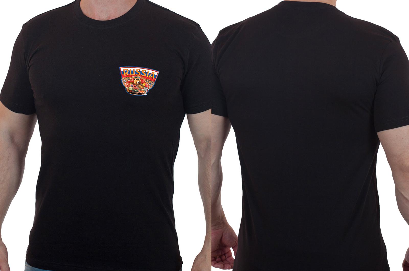 Классная черная футболка с оригинальным принтом - купить по выгодной цене