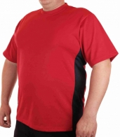 Спортивная мужская футболка с аппликацией-номером на рукаве