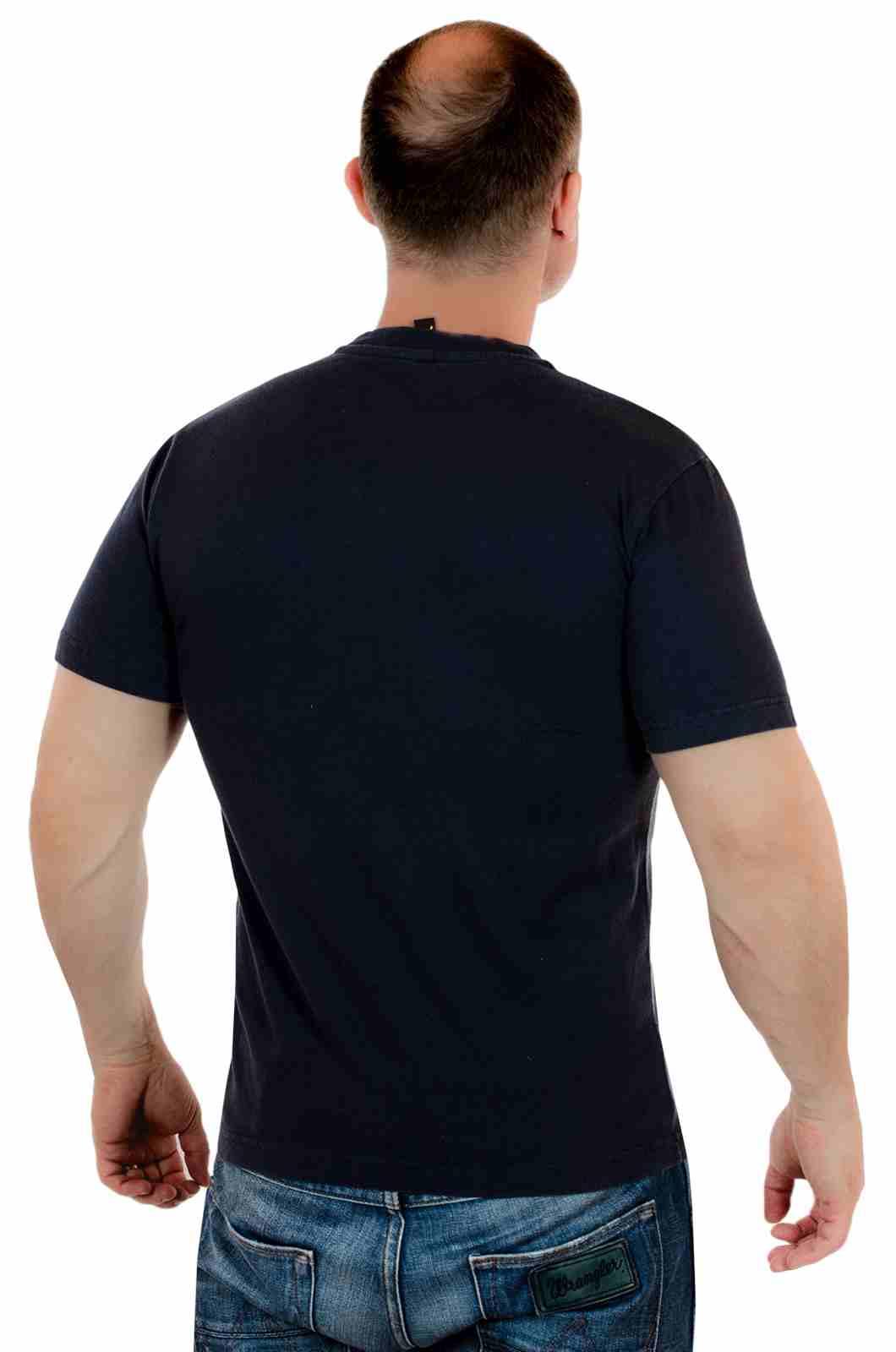 Классная футболка для сёрферов The wave is forever с принтом-сзади