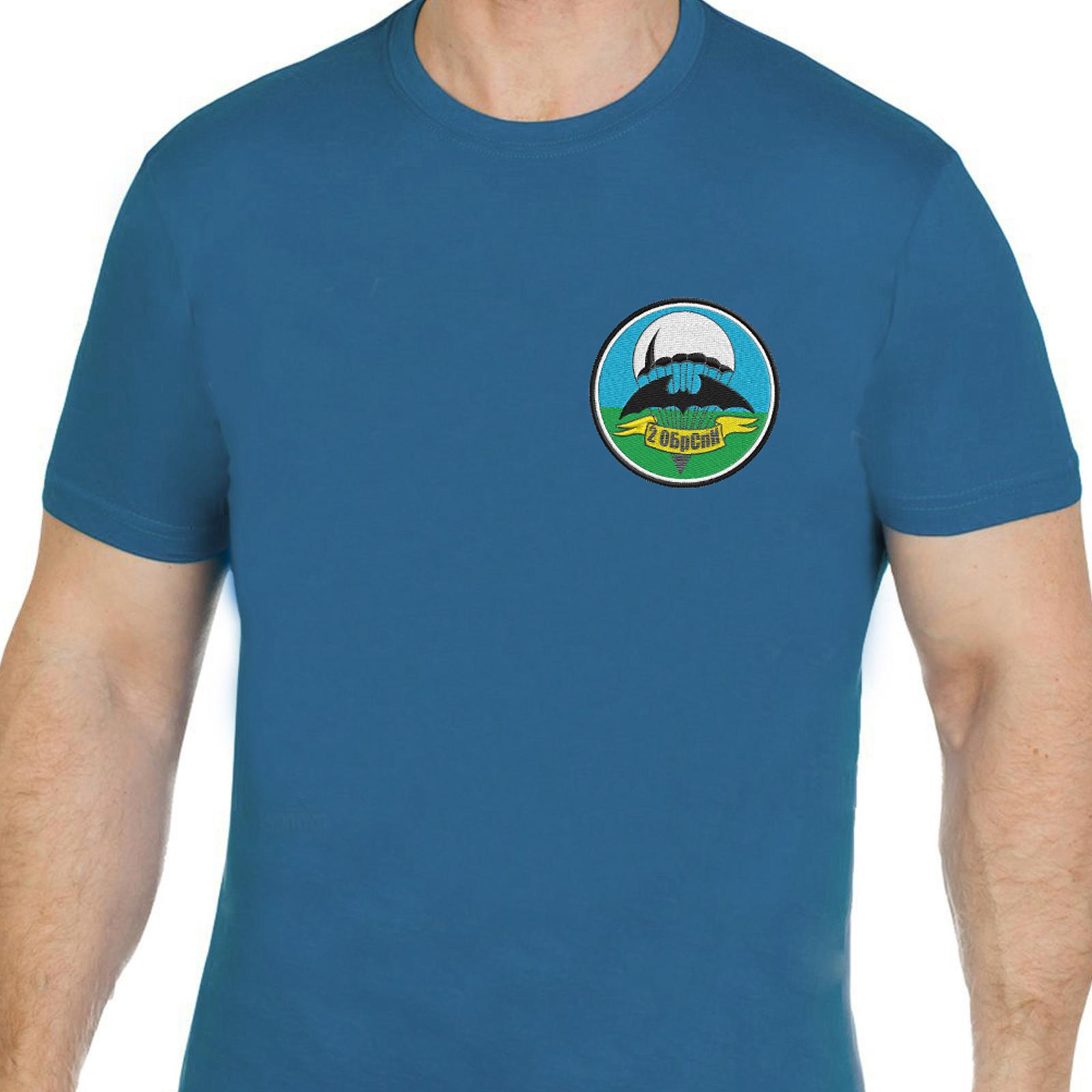 Классная милитари футболка с вышивкой 2 ОБрСпН