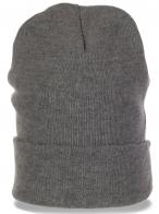 Классная мужская шапка-носок с широким отворотом