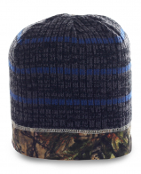Классная мужская шапка с элементом камуфляж. Практичная модель для парней, ценящих активный образ жизни