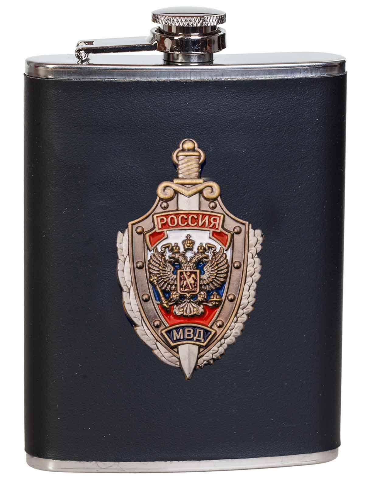 Классная подарочная фляжка сотруднику МВД России