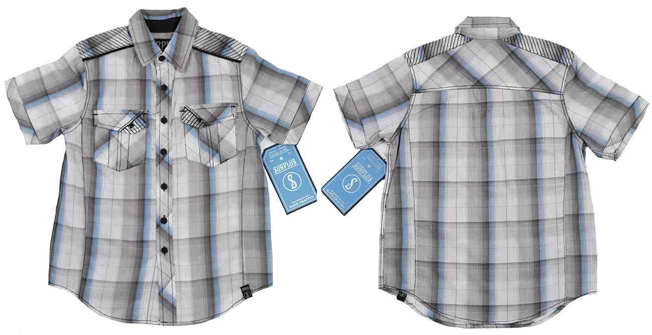 Классная рубашка для мальчиков из коллекции Surplus (Германия)-двойная