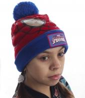 Классная шапка Человек-паук для девчонок и мальчишек. Заказывайте, дети будут в восторге!