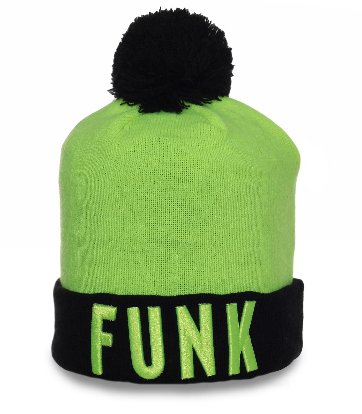 Классная шапка Funk. Супер-модный головной убор для спорта и на каждый день. 100% комфорт!