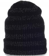 Классная вязаная мужская шапочка-носок