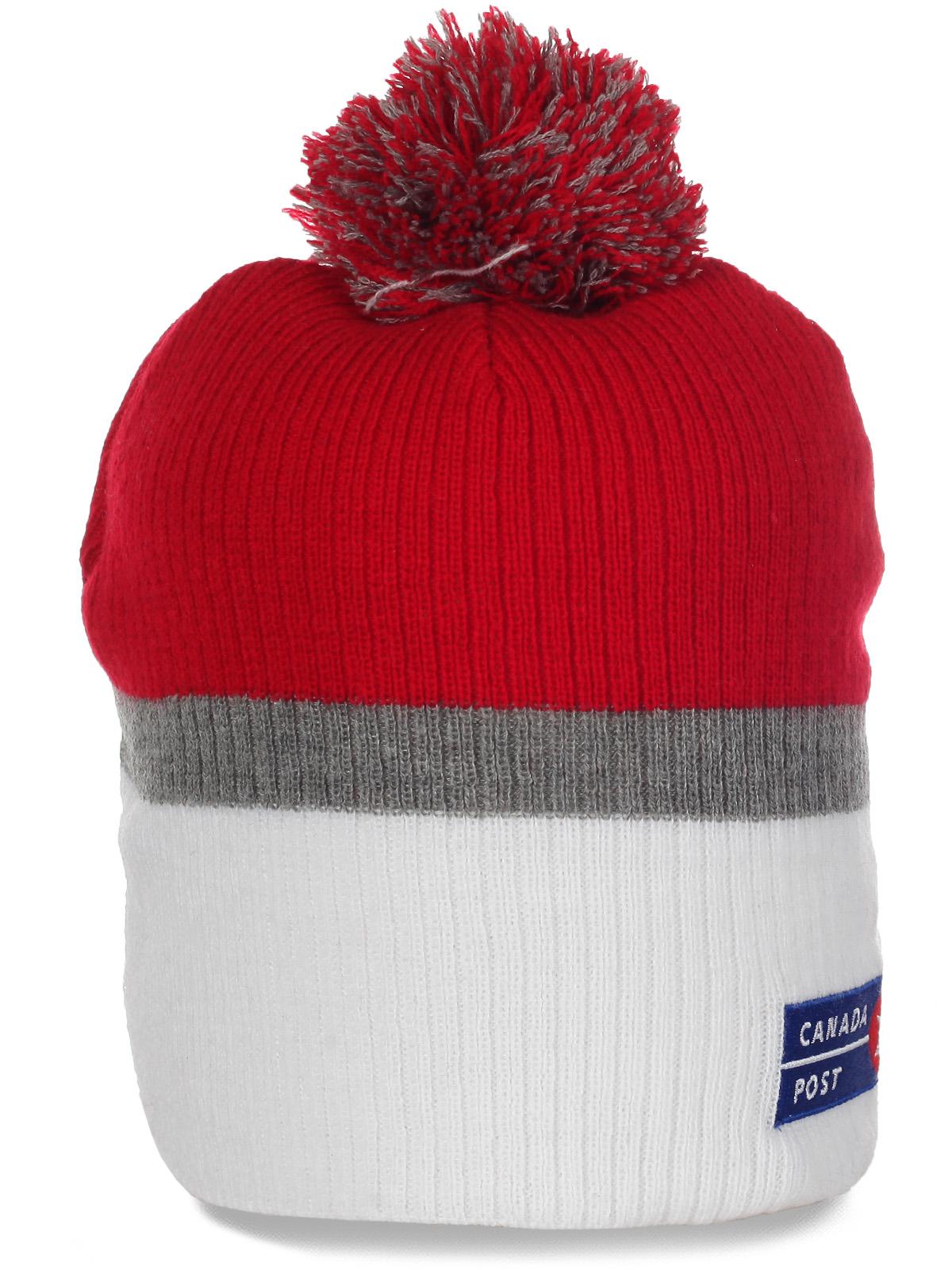 Классная яркая шапочка с логотипом Canada Post Corporation