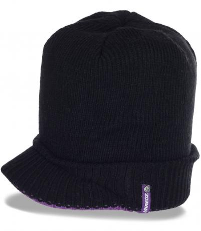Классная женская вязаная кепка от бренда Shredz