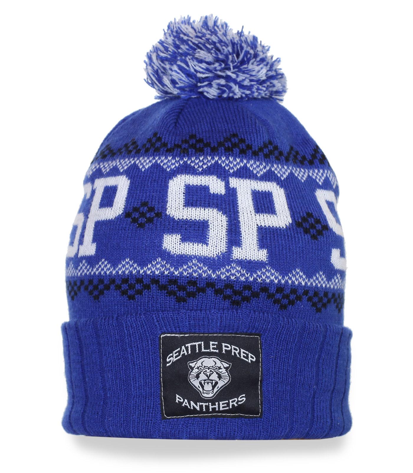 Классная зимняя шапка Seattle Prep Panthers