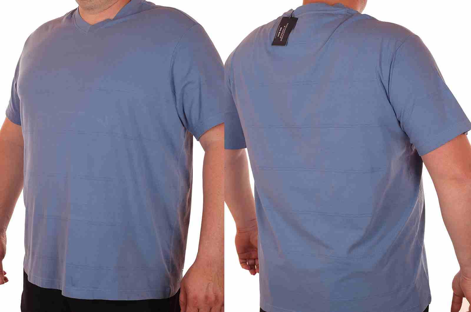 Повседневная футболка больших размеров (батал) от Roundtree & Yorke (США)-двойной ракурс