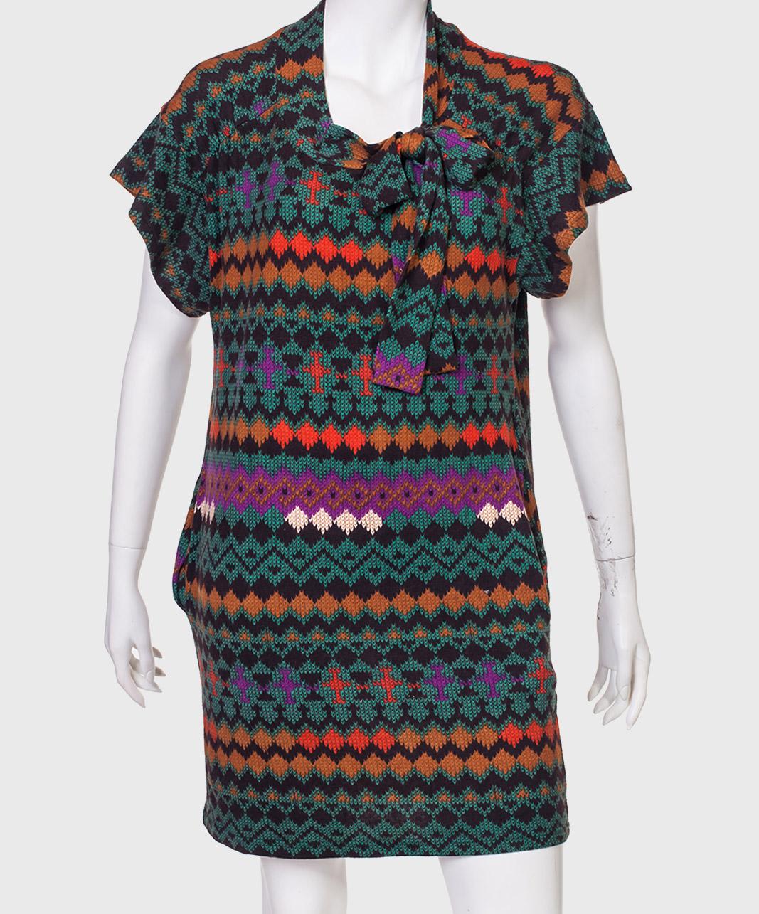 Классное трикотажное платье ZB