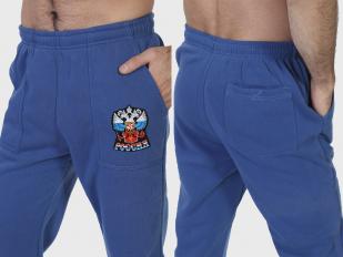 Классные спортивные штаны с гербом России заказать в Военпро