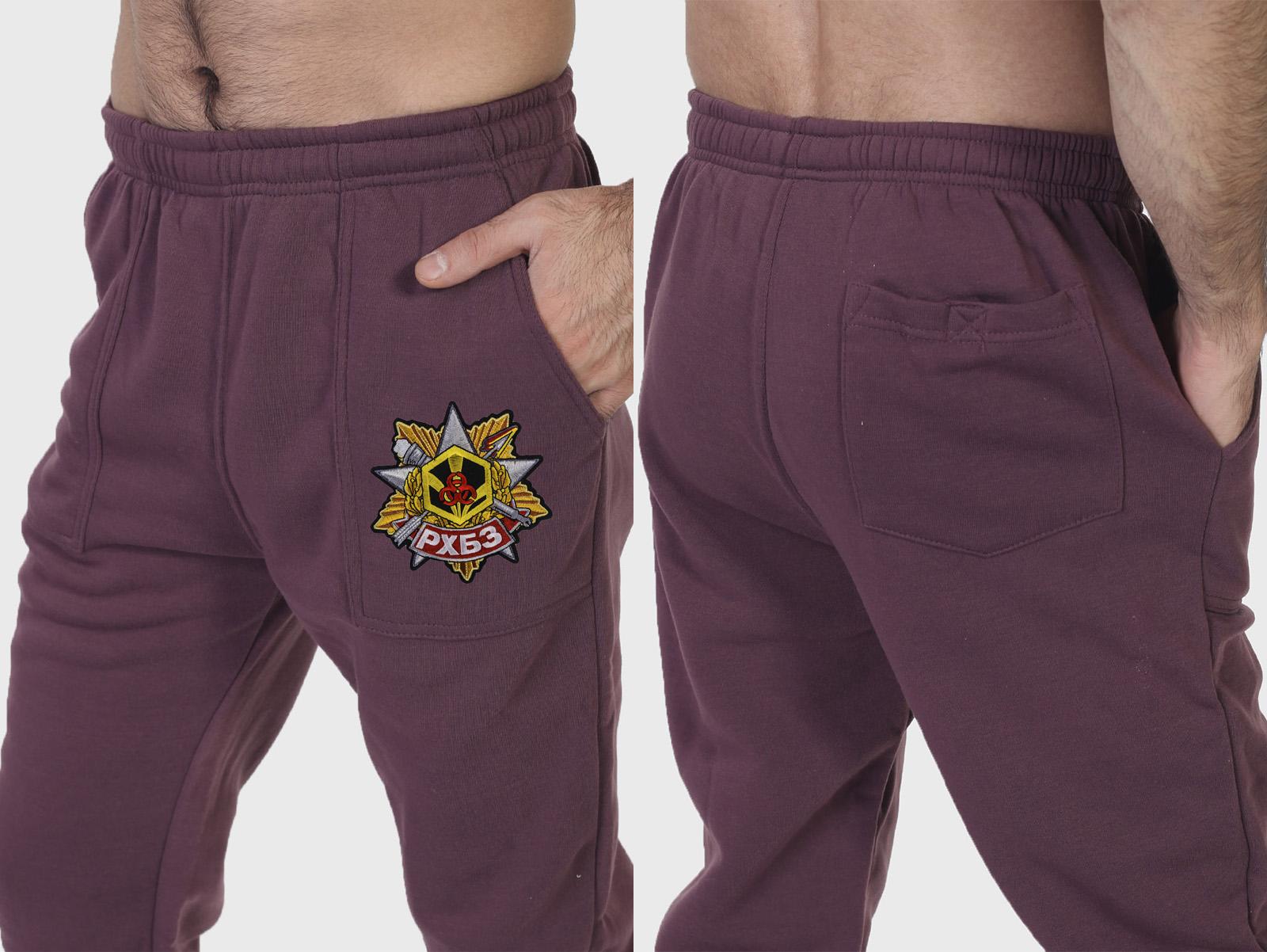 """Классные спортивные штаны """"РХБЗ"""" с вышитой нашивкой."""