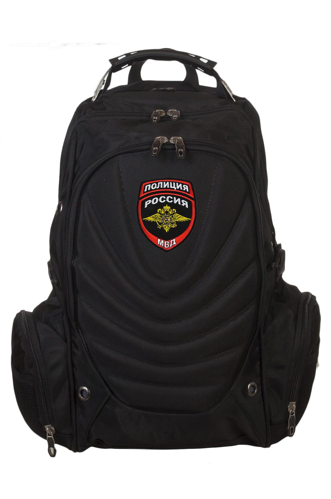 Классный черный рюкзак с нашивкой Полиция России