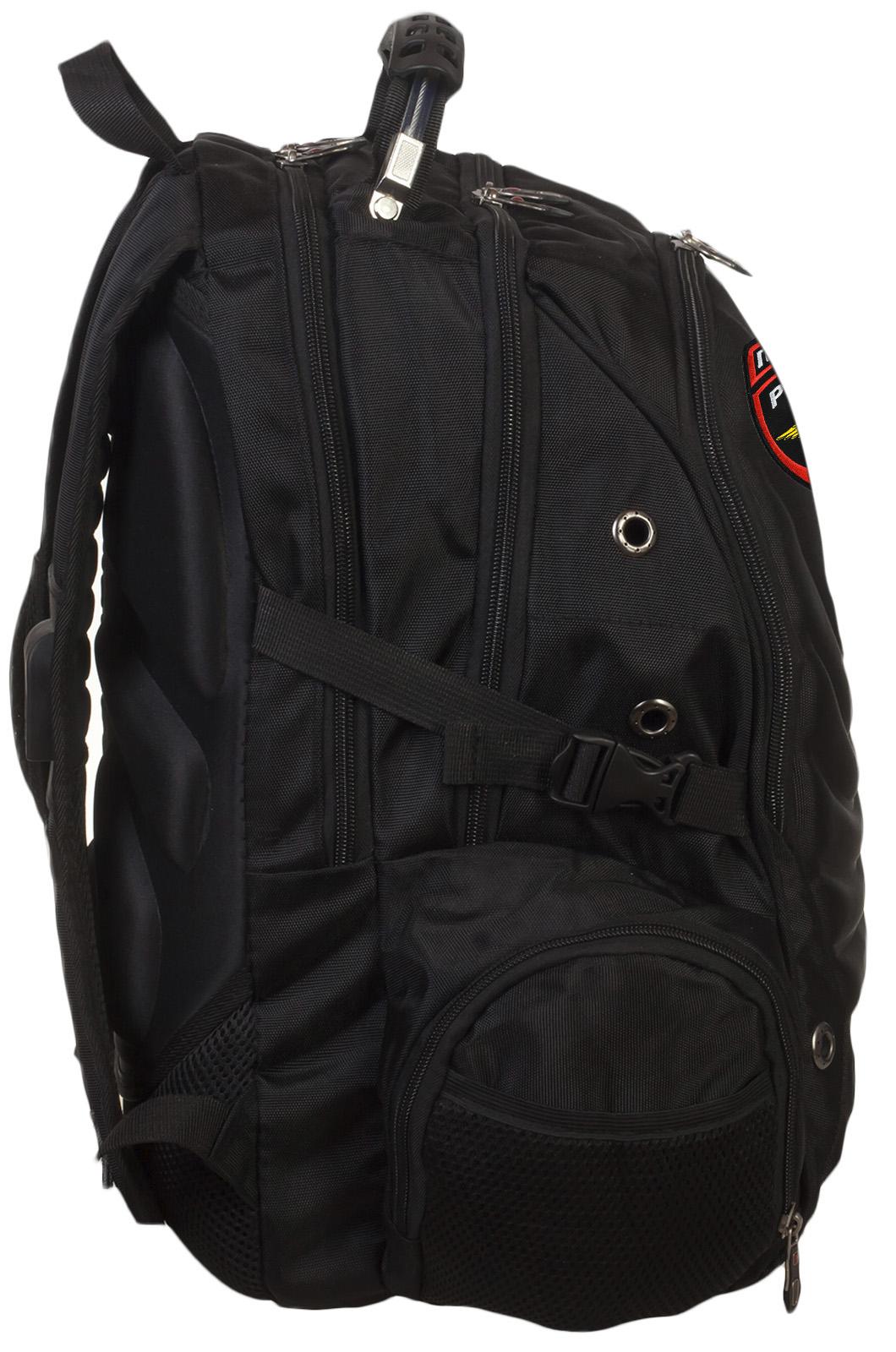 Классный черный рюкзак с нашивкой Полиция России купить выгодно