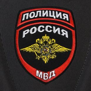 Классный черный рюкзак с нашивкой Полиция России купить по лучшей цене