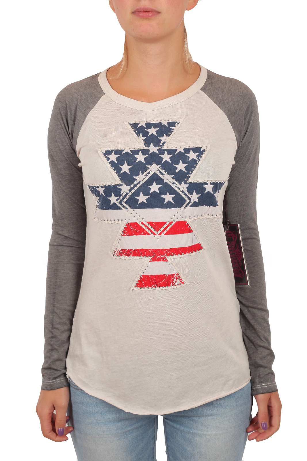 Женская футболка реглан Rock and Roll Cowgirl