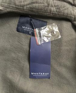 Клетчатая мужская рубашка с вышитым шевроном Автомобильные Войска