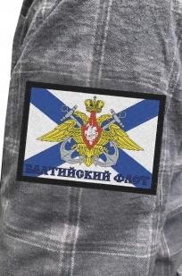 Клетчатая рубашка с нашивкой Балтийский флот купить в розницу