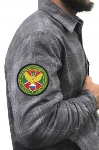Клетчатая рубашка с шевроном КППО купить с доставкой