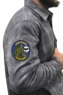 Клетчатая рубашка с шевроном Войсковой разведки купить оптом