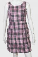 Клетчатое классическое платье-сарафан от SIEMPREESVIERNES