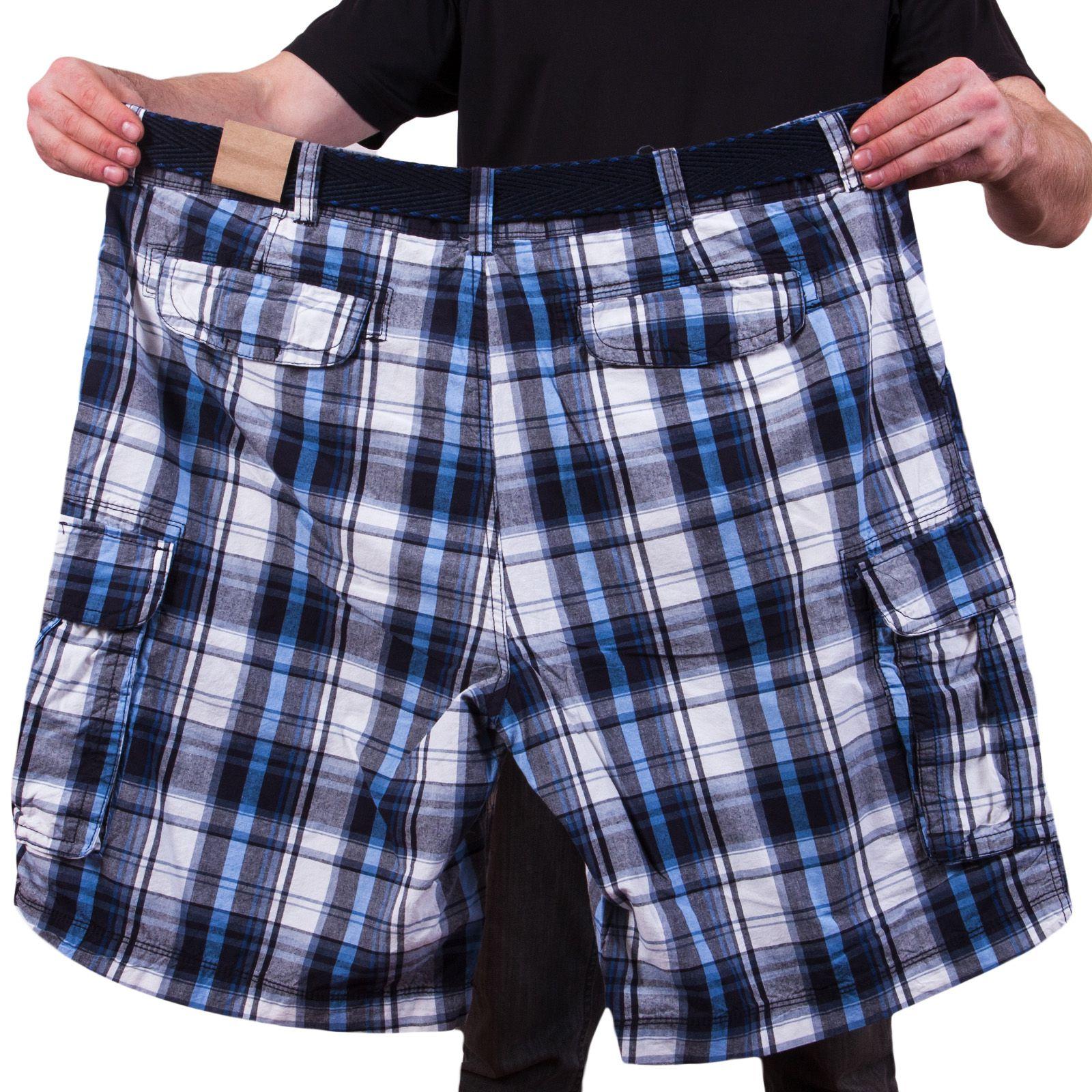 Клетчатые шорты баталы высокого качества по выгодной цене