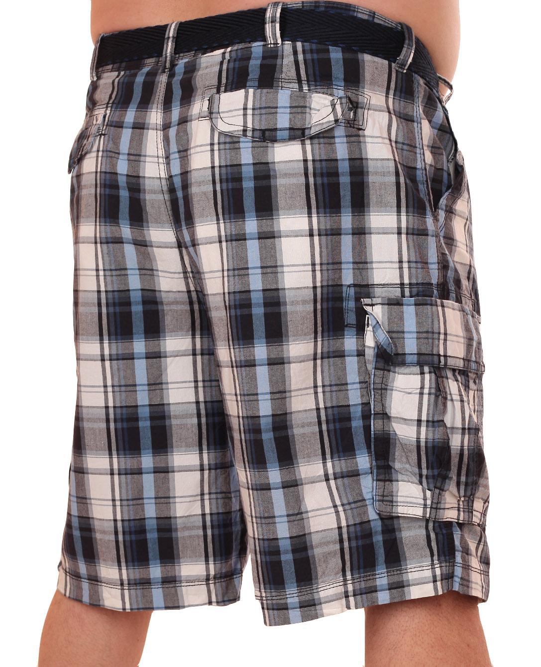 Клетчатые шорты баталы | Купить шорты баталы недорого