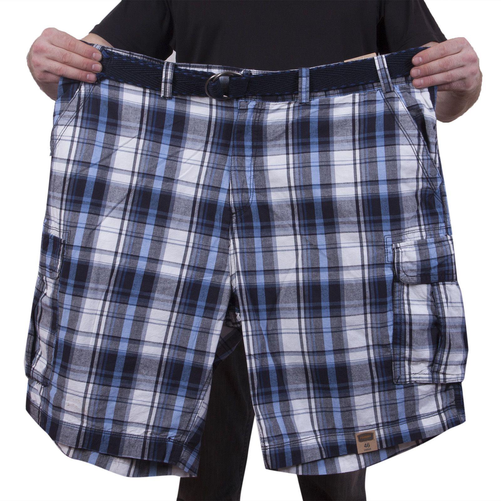 Клетчатые шорты баталы