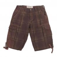 Клетчатые мужские шорты карго.
