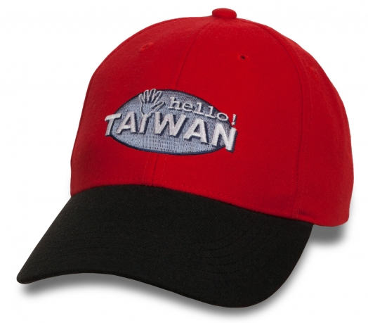 Клевая бейсболка с надписью Hello Taiwan.
