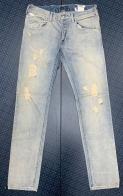 Клубные мужские джинсы с потёртостями