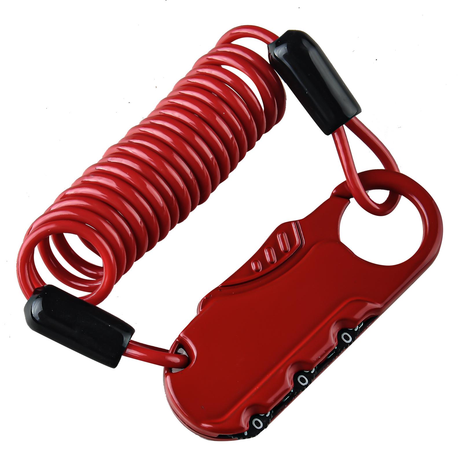 Кодовый велозамок XMM (красный)